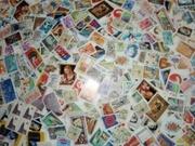 Большая куча марок разных стран