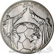 Вид товара: Монеты  Португалия 2.5 евро 2014год футбол  280руб опт. п