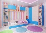 Модульная мебель для детей Лада синяя