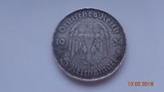 Монета 5 марок 1934