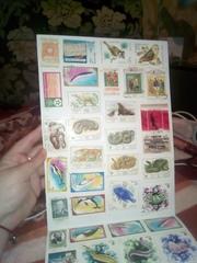 Почтовые марки гашеные и нет